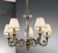 Bedroom Light Shades Uk Kolarz Contarini 5 Light Antique Brass Chandelier With Shades