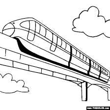 monorail coloring monorail train coloring drawing lessons