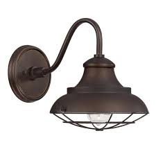 capital lighting barn style 1 light burnished bronze outdoor wall