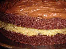 got cake mah fave german chocolate cake from mix