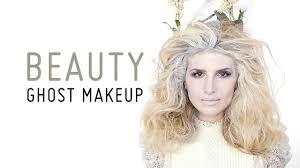 Halloween Ghost Makeup by Ghostly Snow Queen Diy Makeup Tutorial Mr Kate Youtube
