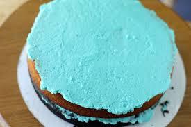 mangio da sola baby blue cake chocolate and white cake with blue