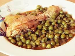 cuisine a base de poulet plat populaire et familial à base de poulet et de petit pois idée