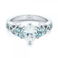 blue topaz engagement rings blue topaz engagement ring custom diamond and blue topaz