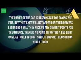 red light ticket points are there demerit points for red light camera youtube