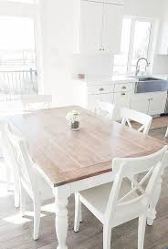 Dining Table White Legs Wooden Top Dining Table White Legs Wooden Top Voyageofthemeemee