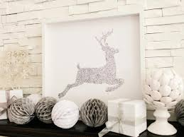 Glitter Deer Christmas Decor by Holiday Decoration Glitter Reindeer Artwork How Tos Diy