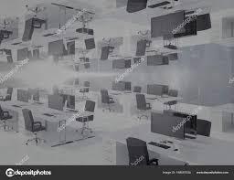 bureau inversé avec la ligne d horizon et les reflets photographie