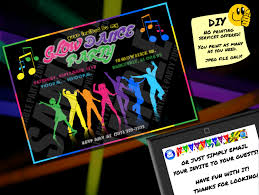 glow party supplies glow party invitation printable invite emailable