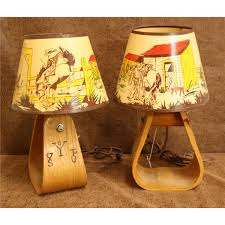 pair of western stirrup lamps