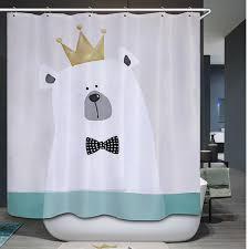 comwarm polyester waterproof shower curtain bathroom cute cartoon