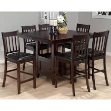 Jofran Tessa Chianti Piece Casual Counter Height Square Table - 7 piece dining room set counter height