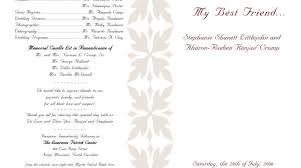 Example Of Wedding Program Wedding Program Wording Wedding Programs Wedding Program Wording
