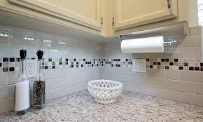 kitchens with mosaic tiles as backsplash white kitchen design and decoration using black and white subway