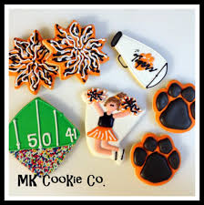 cheerleading theme cookie connection decorated cookies