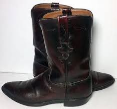 lucchese burgundy leather cowboy roper s boots size 11