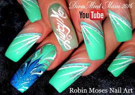 robin moses nail art easy diagonal diva striped nail art diy