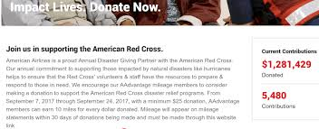 earn miles for donating to help hurricane irma recovery