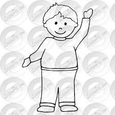 clever design boy outline picture clip art coloring printable