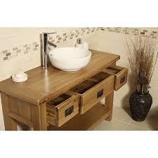 Oak Bathroom Vanity Units Valencia Rustic Oak Bathroom Vanity Click Oak