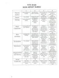 biography book report template pdf fourth grade book report rubric pdf pdf pinteres