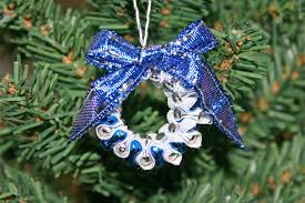 Blue Decorated Christmas Wreaths by Funezcrafts Beaded Christmas Wreath