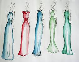 prom dress design sketches best dressed