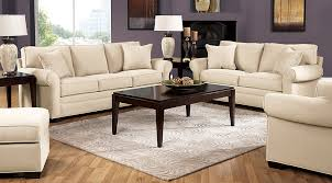 Rooms To Go Living Room Set Cindy Crawford Home Bellingham Vanilla 7 Pc Living Room Living