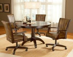 caster dining room chairs dining room table chairs casters with