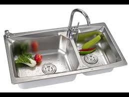 Kitchen Sinks Top Mount by Stainless Steel Kitchen Sinks Top Mount Double Bowl Youtube