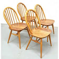 mid century vintage elm dining table u0026 chairs by ercol pedlars