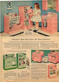 modern kitchen toy 1959 advert toy rite hite kenmore play kitchen pink green all
