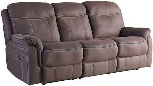 Contemporary Reclining Sofa With Topstitch by Champion Brown Reclining Living Room Set From Standard Furniture