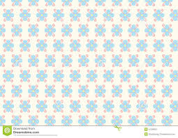 Soft Blue Color Flower And Spiral Pattern On Pastel Color Stock Vector Image