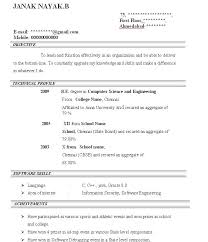 Simple Sample Of Resume Format by Sample Of Basic Resume Resume Cv Cover Letter Example Of A
