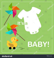 Baby Shower Invitations Card Baby Shower Invitation Card Wooden Duck Stock Vector 570148675