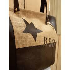 sac cabas en lin sac à main artisanal tissu avec étoile pour femme marque nature et lin