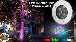 In Ground Landscape Lighting Led In Ground Color Changing Well Light High Power Rgb Leds