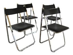 Folding Chairs Arrben Tamara Italian Folding Chairs Set Of 4 Chairish