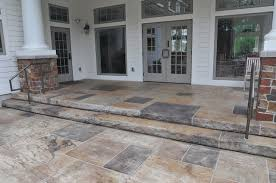 Pool Patios And Porches Rustic Stamped Concrete Patios Pool Decks And Hardscapes Rustic