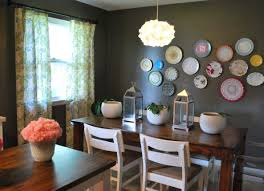 Accent Wall Rules by Decorative Plates On The Wall Of The Dining Room Small Design Ideas