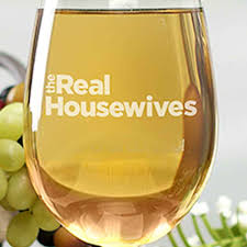 Wine Glass Without Stem The Real Housewives Etched Wine Glass With Stem