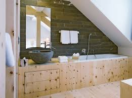 Small Attic Bathroom Sloped Ceiling by Apartment Stylish Bathroom Sloping Ceiling Ideas Design Simple