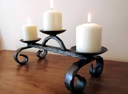 Large Candle Holders For Fireplace by Hand Made Wrought Iron Candle Holder Large
