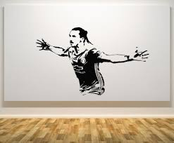 Wall Art Stickers by Zlatan Ibrahimovic Swedish Sweden Football Player Decal Wall