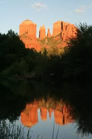 Cathedral Rock Reflections At Sunset Red Rock Crossing Cathedral Rock Sunset From Inside Crescent Moon Ranch Picture