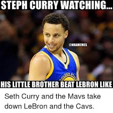 Nba Memes Lebron - steph curry watching den sy his little brother beat lebron like