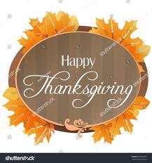 festive illustration wishing happy thanksgiving stock vector