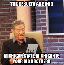 Michigan State Memes - the results are in michigan state michigan is your big brother