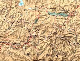 Mt Everest Map Mount Everest Tibet Yeti Expeditions